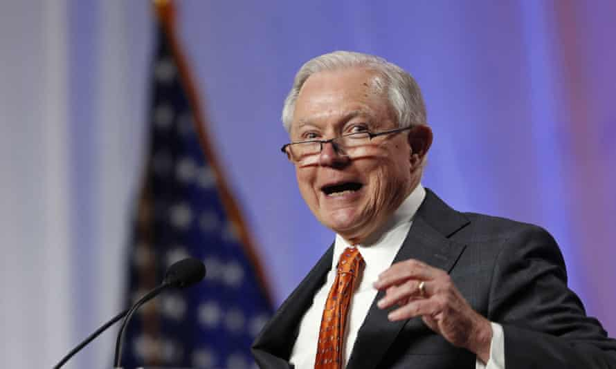 Jeff Sessions, the attorney general, speaks at the National Sheriffs' Association conference in New Orleans.