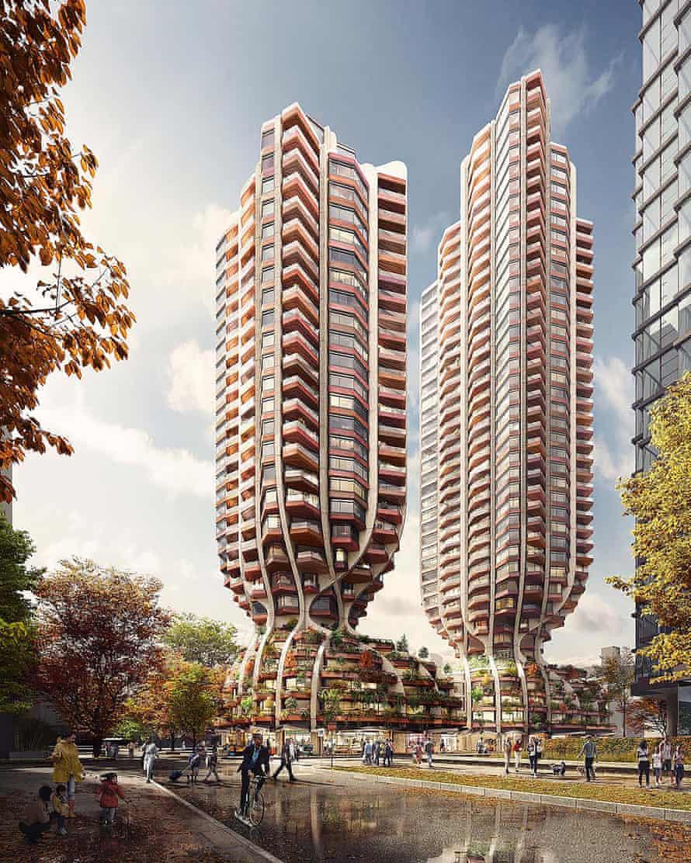 Thomas Heatherwick Studio's tulip-shaped Vancouver towers.