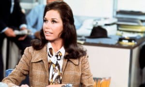 Mary Tyler Moore on the set of The Mary Tyler Moore Show.
