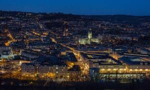 The historic city centre of Bath