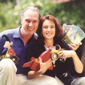 Anna Fienberg with Kim Gamble, illustrator of the Tashi books