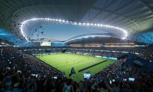 Cox Architects said the design of the new Allianz stadium anticipated the changing shape of Australians over the next three decades