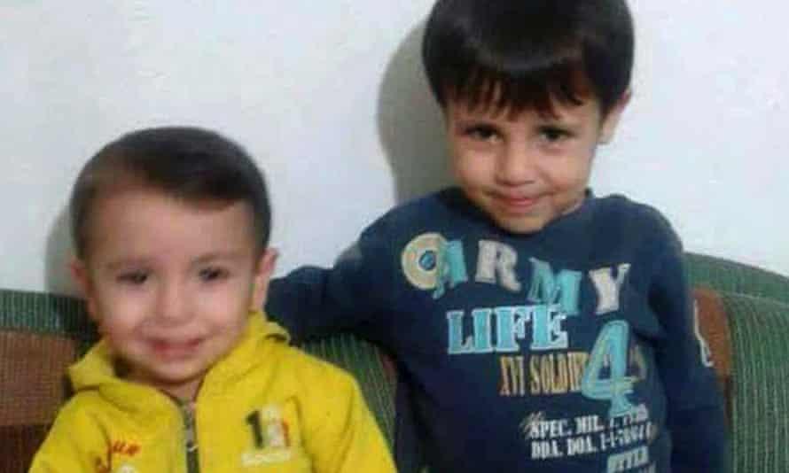 Aylan Kurdi, left, and his older brother, Ghalib.