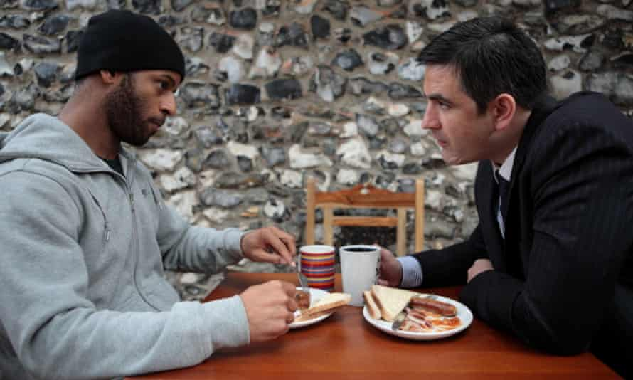 Andre Samson and Marc Bannerman in Landscape of Lies