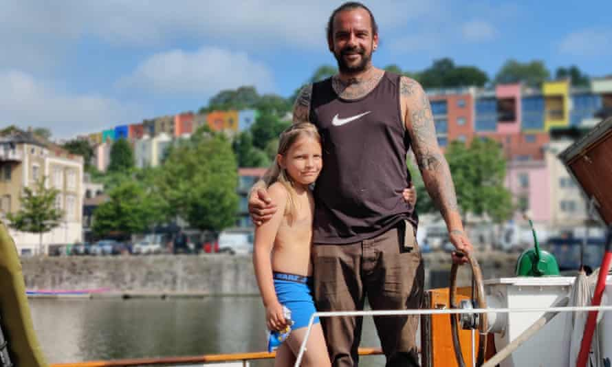Boat owner Ian Jennings is keen on plans to allow swimming in Bristol harbour.