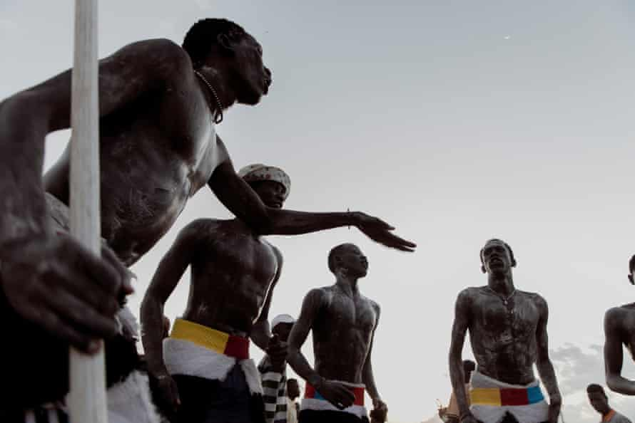 Dinka perform traditional songs