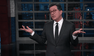 Stephen Colbert: 'Yeah, wars are easy to win. The war starts; you get your dad to get you five draft deferments; the war ends; so easy.'