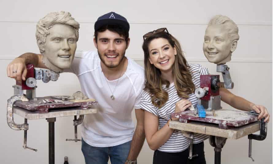 YouTube stars Alfie Deyes and Zoe Sugg