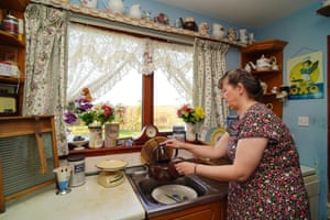 Julie Kelty in her kitchen in South Uist