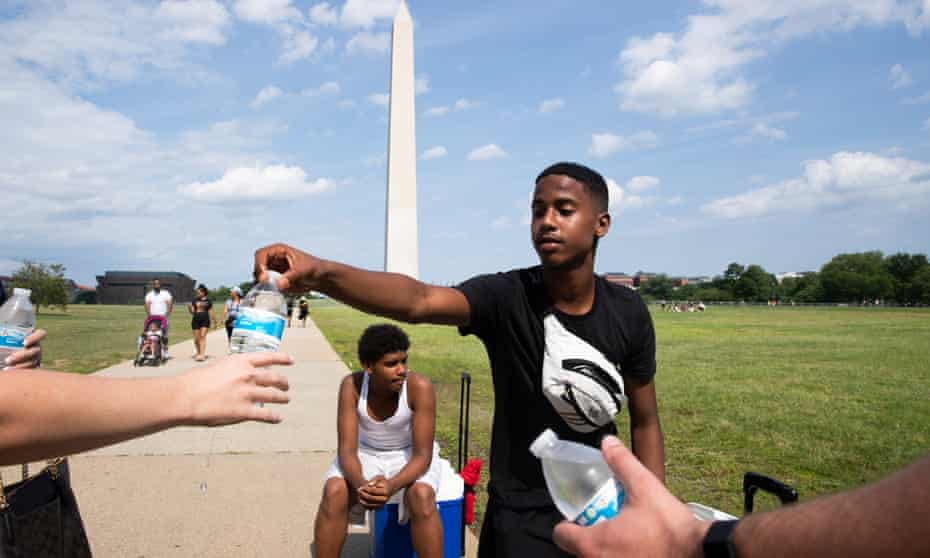 Temperatures reached a humid 93F (33C) in Washington DC on 27 June.