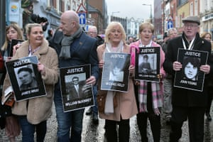 Derry, Northern Ireland Families of those killed on Bloody Sunday