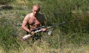 Vladimir Putin hunting topless