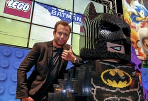 Will Arnett with Lego Batman at Comic-Con.
