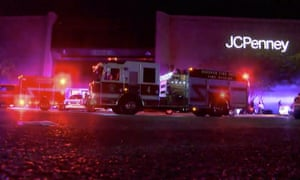 This Thursday, Nov. 22, 2018, image made from a video provided by ABC 33/40, authorities respond after reports of shots fired at the Riverchase Galleria in Hoover, a Birmingham, Ala., suburb. A man was shot and killed by police after a fight at the mall ahead of Black Friday shopping resulted in gunfire that injured several. (ABC 33/40 via AP)