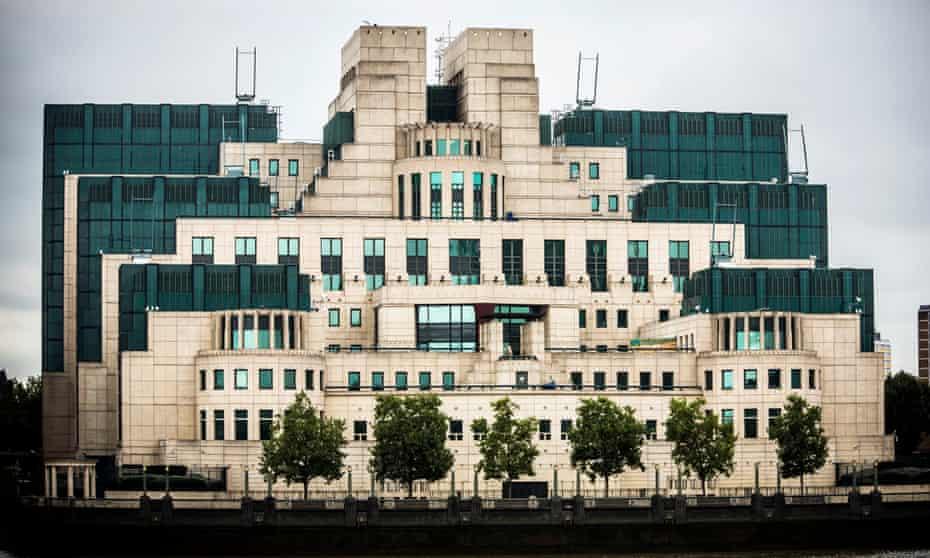 The London HQ of the British Secret Intelligence Service.
