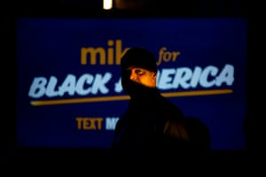 A supporter attends an event for Democratic presidential candidate Mike Bloomberg.