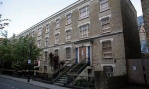 Empty buildings on Castle Lane in London