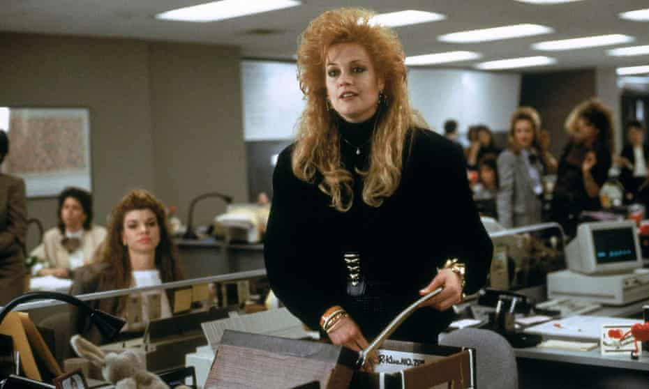 Melanie Griffith in Working Girl.