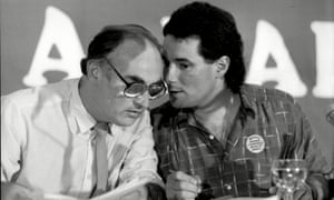 Peter Taaffe (left) with Derek Hatton at the Labour party conference In Bournemouth in 1985.