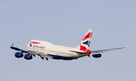 British Airways plane.