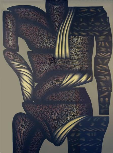 Double Hesitation, 1977, by Christina Ramberg