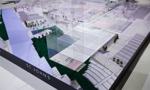 'Ultra-flexible': a model of the proposed St John's quarter in Manchester, displayed last year at the launch of the planned £78m Factory arts centre.