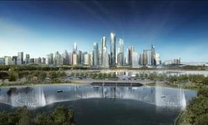 Tianfu New District masterplan, Chengdu, China.
