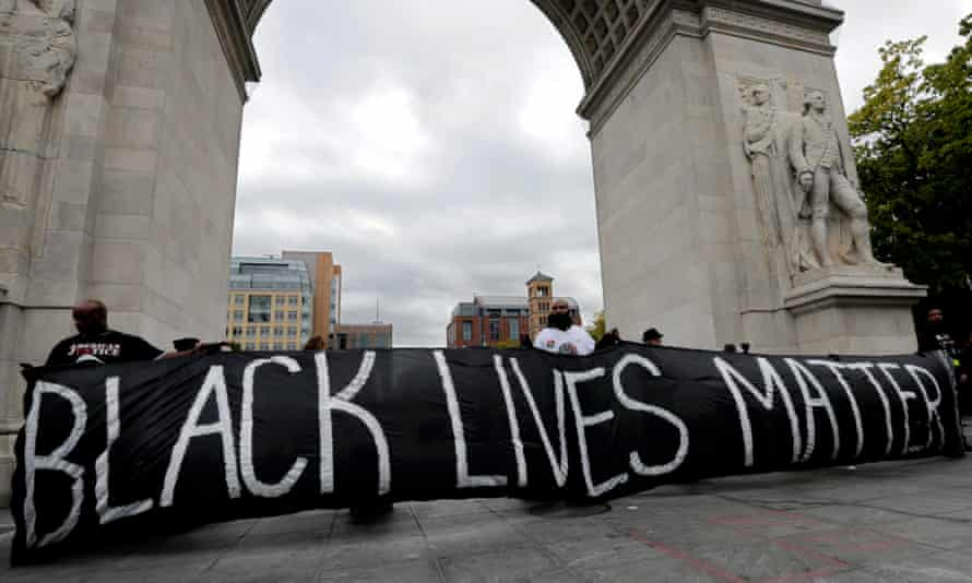 A 'Black Lives Matter' protest in New York.