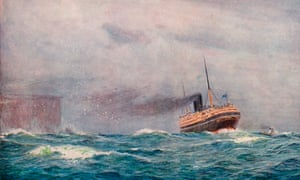 Percy Frederick Seaton Spence's 1913 painting A P&O Steamer Outward Bound.