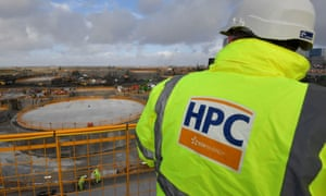 Construction work including one of two 'nuclear islands' is seen at the Hinkley Point C nuclear power station