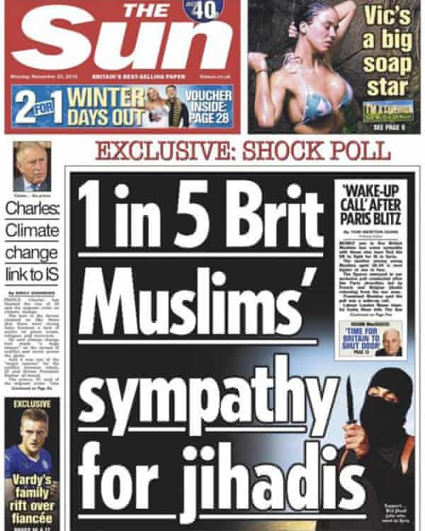 Sun newspaper front page from September 2015