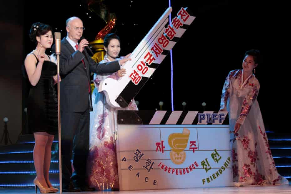 The opening ceremony at the 2014 Pyongyang international film festival.
