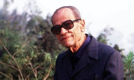 Naguib Mahfouz, pictured in 1989.