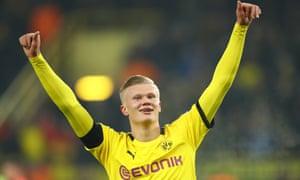 Erling Braut Haaland S Scoring Run Continues As Dortmund Thrash Cologne Football The Guardian