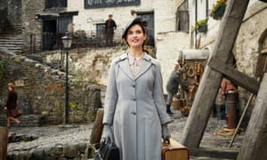 Lily James in The Guernsey Literary and Potato Peel Pie Society.
