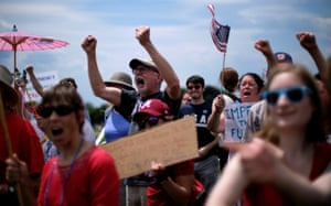Protesters gather on the National Mall.