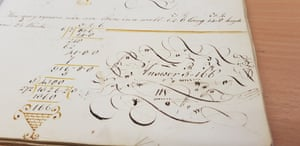 Doodles from the pages of Richard Beale's maths book, from 18th century. Shared by the Museum of English Rural Life.