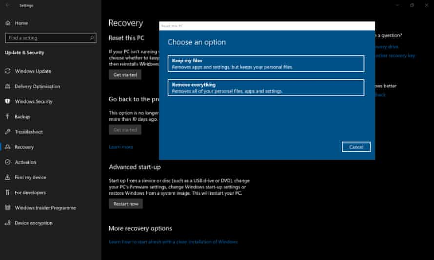 Factory resetting Windows 10 is often the best way, but there are several options to get it done.