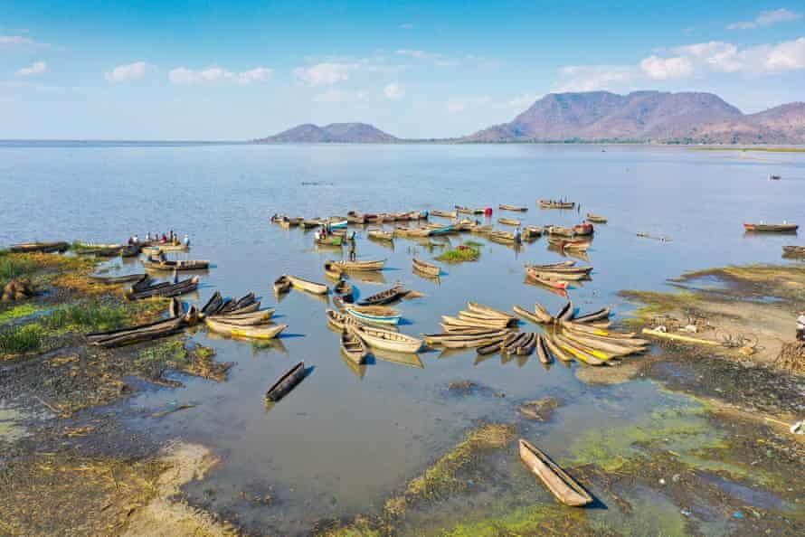 Canoes docked at Kuchenga, on Chisi Island in Lake Chilwa