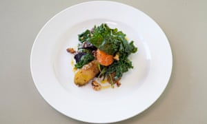 'There are nuts which, like my hopes and dreams, are crushed': crispy kale salad.