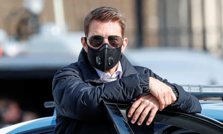 Cruise on the set of Mission: Impossible 7 while filming in Rome in October.