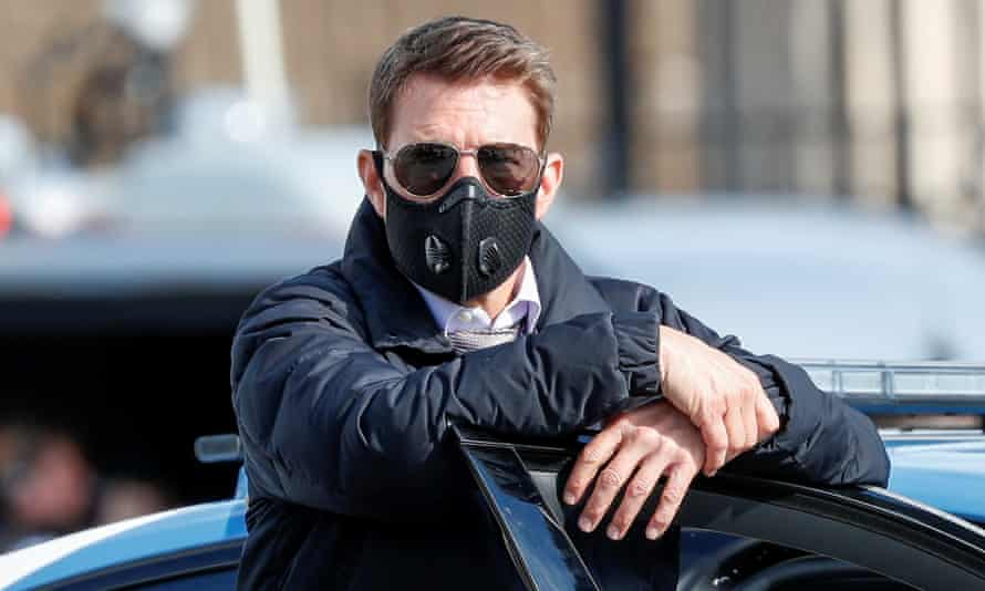 The real Tom Cruise, on the set of Mission Impossible 7 in Rome