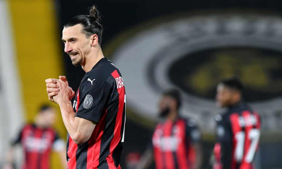 Zlatan Ibrahimovic reacts as Milan lose top spot in Serie A to their city rivals Inter.