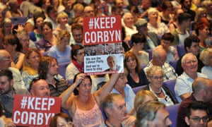 Supporters of Jeremy Corbyn at a rally on Saturday.