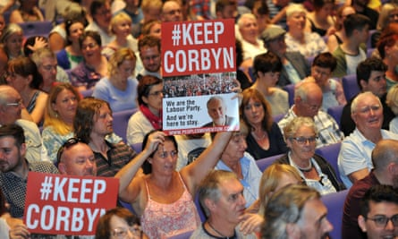 Supporters of Jeremy Corbyn at a rally in Manchester, July 2016
