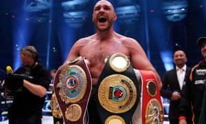 Tyson Fury beat Wladimir Klitschko in November 2015 to win the WBA and WBO heavyweight titles.
