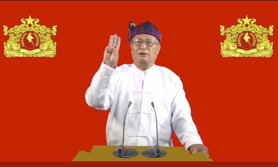 Duwa Lashi La, the acting president of the National Unity Government opposition group in Myanmar
