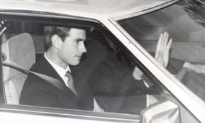 Prince Edward on his way to Lympstone barracks, January 1987