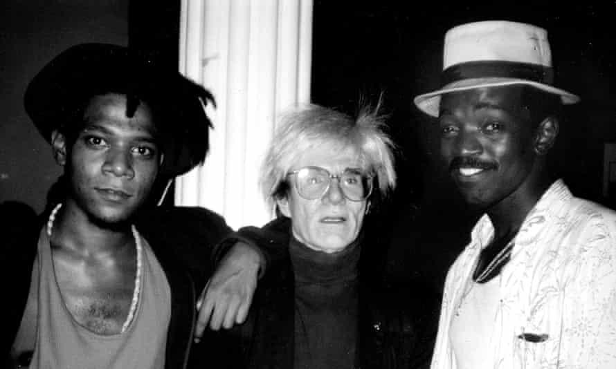 Manhattan giants … from left, Jean-Michel Basquiat, Andy Warhol and Brathwaite.