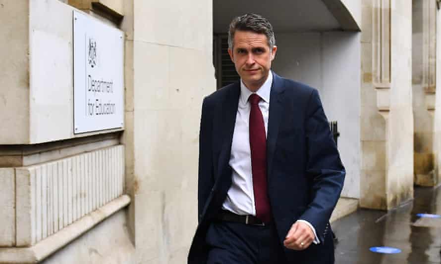 Gavin Williamson arriving at the Department of Education in London, September 2020